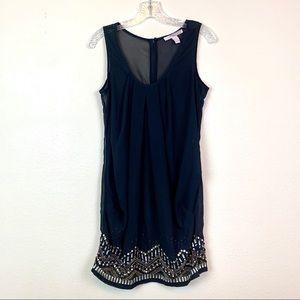 🔥5 for 30 Forever 21 Black Sheer Beaded Dress